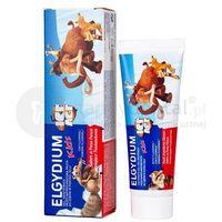 Pasty do zębów, ELGYDIUM Kids ICE AGE pasta do zębów mlecznych o smaku orzeźwiającej truskawki 50ml