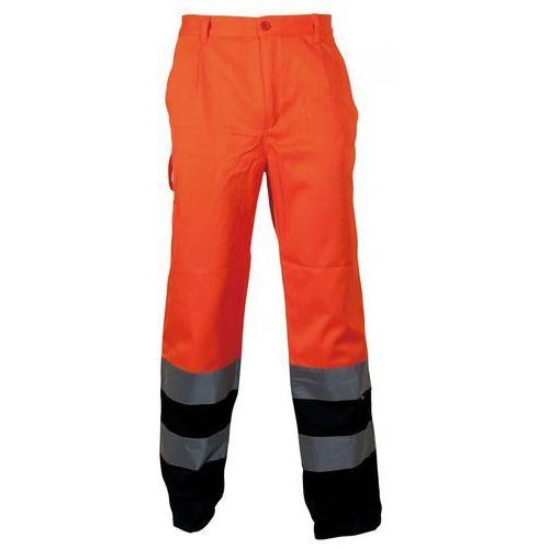 Spodnie i kombinezony ochronne, Spodnie robocze ostrzegawcze pomarańczowa -granatowa, rozmiar XXXL