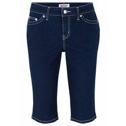Bermudy z miękkiego dżinsu ze stretchem bonprix ciemnoniebieski