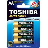 Baterie, Baterie alkaliczne Toshiba LR6GCH BP-4 (4 szt)- natychmiastowa wysyłka, ponad 4000 punktów odbioru!