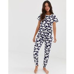 Loungeable polar bear print pyjama set - Blue