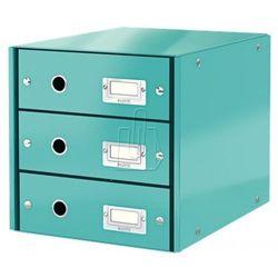 Pojemnik Leitz Click&Store z 3 szufladami turkusowy 604800
