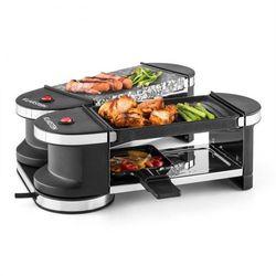 Klarstein Tenderloin grill mini-raclette 600 W 360°podstawa płyta grillowa gorący kamień