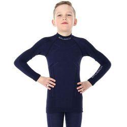 Bluza Termoaktywna Junior Brubeck Active Wool LS13680 Granatowa