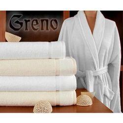 Szlafrok Greno Wellness Biały - z włóknem bambusowym
