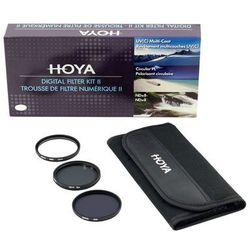 Zestaw filtrów Hoya 62mm: UV(C) + CPL + NDx8 + Saszetka