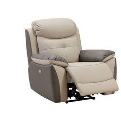 Fotel LUGO – elektryczna funkcja relaksu, skóra – dwukolorowy antracytowo-taupe