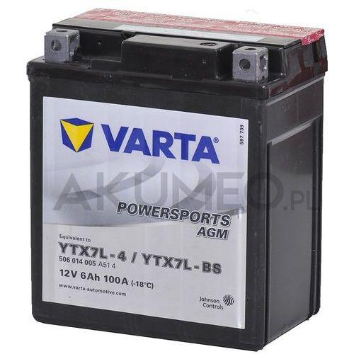 Akumulatory do motocykli, Akumulator VARTA Powersports AGM YTX7L-BS 12V 6Ah 100A prawy+