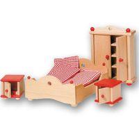 Pozostałe zabawki edukacyjne, Wyposażenie domków - Sypialnia czerwona