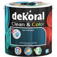 Farby, Satynowa farba lateksowa Dekoral Clean&Color niespokojny ocean 2 5 l