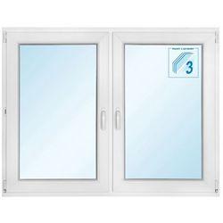 Okno PCV rozwierne + rozwierno-uchylne trzyszybowe 1465 x 1135 mm symetryczne