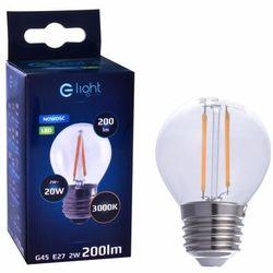 Żarówka LED E27 2 W = 20 W 200 lm Ciepła EKO-LIGHT