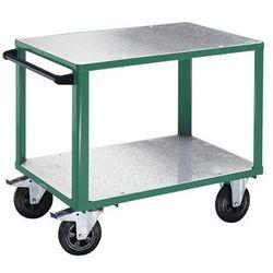 Wózek montażowy, 2 powierzchnie ładunkowe z nakładkami z ocynkowanej blachy stal