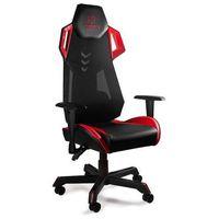 Fotele dla graczy, Fotel gamingowy Unique DYNAMIQ V11 czarno-czerwony z regulacją - ZŁAP RABAT: KOD100