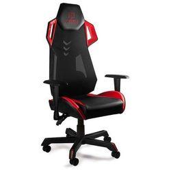 Fotel gamingowy Unique DYNAMIQ V11 czarno-czerwony z regulacją - ZŁAP RABAT: KOD100