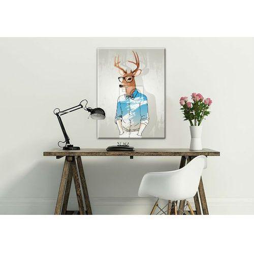 Obrazy, Modny obraz z motywem jelenia, fajny prezent dla szefa;)