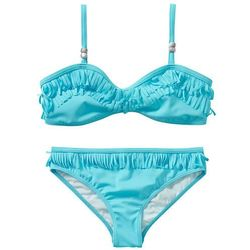 Bikini dziewczęce (2 części) bonprix turkusowy