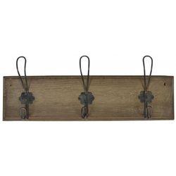 Ib Laursen - Wieszak Drewniany Brązowy z 3 Metalowymi Haczykami