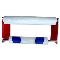 Wieszak na pokrowce foliowe podwójny czerwony lub niebieski