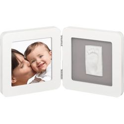 BABY ART Print Frame - kolor white & grey