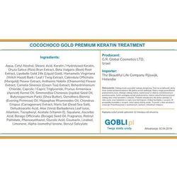 Cocochoco gold keratyna premium do zabiegu prostowania włosów 100ml