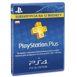Karta SONY PlayStation Plus 365 dni + Zamów z DOSTAWĄ JUTRO! + DARMOWY TRANSPORT!