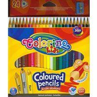 Kredki, Kredki ołówkowe trójkątne Colorino kids 24 kolory + temperówka