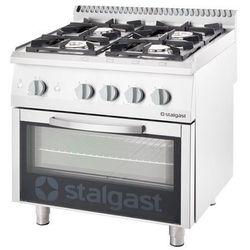 Kuchnia gazowa 20,5 kW z piekarnikiem elektrycznym 600x400 STALGAST 9716110