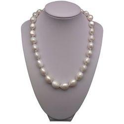 Naszyjnik supełkowany - perły wielki corn białe PES3901A17A