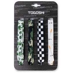 Zestaw sznurówek do obuwia TOGOSHI - TG-LACES-120-4-MEN-008 Biały Kolorowy Zielony