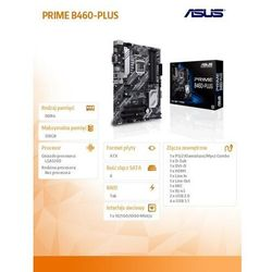Asus Płyta główna PRIME B460-PLUS s1200 4DDR4 DP/HDMI USB3.2 ATX