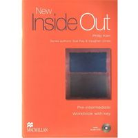 Książki do nauki języka, New Inside Out Pre-Intermediate Workbook (zeszyt ćwiczeń) with Key and Audio CD (opr. miękka)