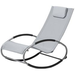 Krzesło ogrodowe szare tekstylne bujane CAMPO