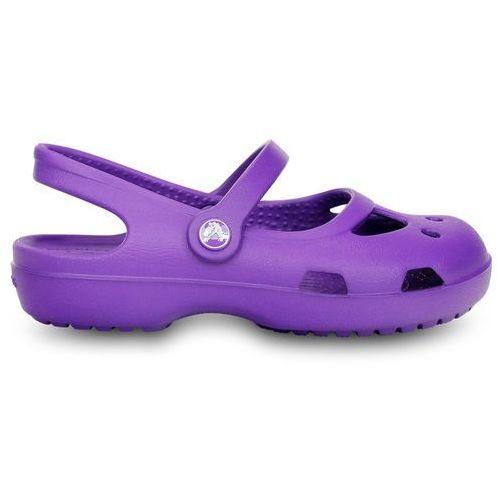 Pozostałe obuwie dziecięce, BUTY CROCS SHAYNA GIRLS 11372 NEON PURPLE - FIOLETOWY
