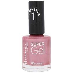 Rimmel London Super Gel STEP1 lakier do paznokci 12 ml dla kobiet 023 Grape Sorbet