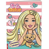 Kolorowanki, Barbie Dreamhouse Adventures. Kolorowanka z naklejkami