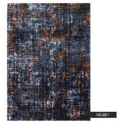 SELSEY Dywan łatwoczyszczący Antisatum zgaszony niebieski 160x230 cm