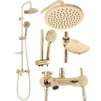 Zestawy prysznicowe, Złoty zestaw prysznicowy Luis Gold Rea ✖️AUTORYZOWANY DYSTRYBUTOR✖️