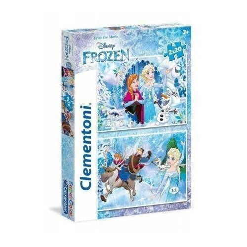 Puzzle, 2x20 Elementów, Frozen