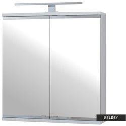 SELSEY Szafka łazienkowa Eviela dwudrzwiowa 60 cm z oświetleniem LED
