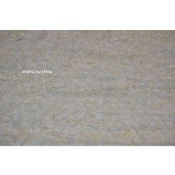 Chodnik bawełniany ręcznie tkany biało-ecru ze smugami lekko szarego 65x100 cm