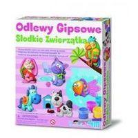 Kreatywne dla dzieci, ODLEWY GIPSOWE SŁODKIE ZWIERZĄTKA - MAGNESY LUB BROSZKI