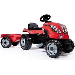 Smoby farmer xl czerwony traktor na pedały z przyczepą