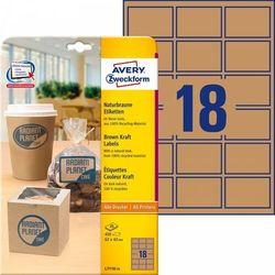 Brązowe etykiety na produkty Avery Zweckform A4 25ark./op. 62x42mm prostokątne