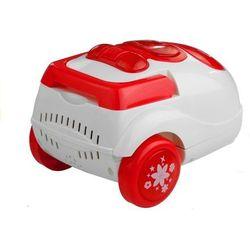 Mały odkurzacz gra świeci zmiotki biało-czerwony