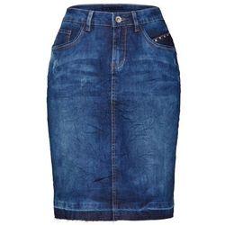 Cream Spódnica trapezowa rich blue denim
