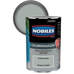 Emalia chlorokauczukowa Nobiles do metalu i betonu popielaty średni 0,9 l