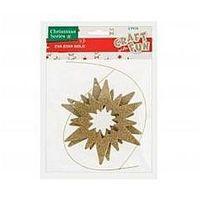 Pozostałe artykuły papiernicze, Ozdoba dekoracyjna Eva gwiazda złota 2szt