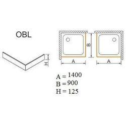 SANPLAST obudowa do brodzików OBL 90x140x12,5 625-401-1570-01-000