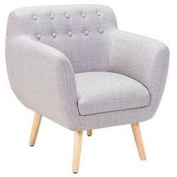 Fotel szary - fotel wypoczynkowy - do salonu - tapicerowany - MELBY